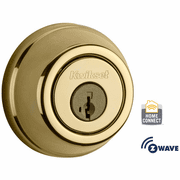 99100-061 - Kwikset Z-Wave SmartCode Wireless Signature-Series Deadbolt (Polished Brass)