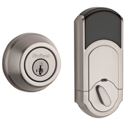 99100-062 - Kwikset Signature Series 910 Traditional Round Door Deadbolt (w/Z-Wave Plus 500-Chipset in Satin Nickel Finish)