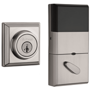 99100-064 - Kwikset Signature Series 910 Traditional Round Door Deadbolt (w/Z-Wave Plus 500-Chipset in Satin Nickel Finish)