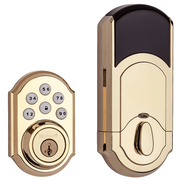 99100-077 - Kwikset SmartCode 910 Door Deadbolt (w/Z-Wave Plus 500-Chipset in Polished Brass Finish)