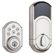 99100-078 - Kwikset SmartCode 910 Door Deadbolt (w/Z-Wave Plus 500-Chipset in Satin Nickel Finish)