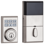 99100-080 - Kwikset SmartCode 910 Modern Contemporary Door Deadbolt (w/Z-Wave Plus 500-Chipset in Satin Nickel Finish)