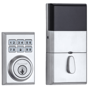 99100-081 - Kwikset SmartCode 910 Modern Contemporary Door Deadbolt (w/Z-Wave Plus 500-Chipset in Satin Chrome Finish)