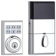 99100-082 - Kwikset SmartCode 910 Modern Contemporary Door Deadbolt (w/Z-Wave Plus 500-Chipset in Polished Chrome Finish)
