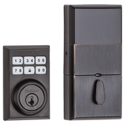 99100-083 - Kwikset SmartCode 910 Modern Contemporary Door Deadbolt (w/Z-Wave Plus 500-Chipset in Venetian Bronze Finish)