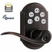 99120-006 - Kwikset Z-Wave SmartCode Wireless Door Lever (Venetian Bronze)