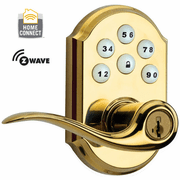 99120-026 - Kwikset Z-Wave SmartCode Wireless Door Lever (Polished Brass)
