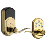 99120-037 - Kwikset SmartCode 912 Door Lever (w/Z-Wave Plus 500-Chipset in Polished Brass Finish)