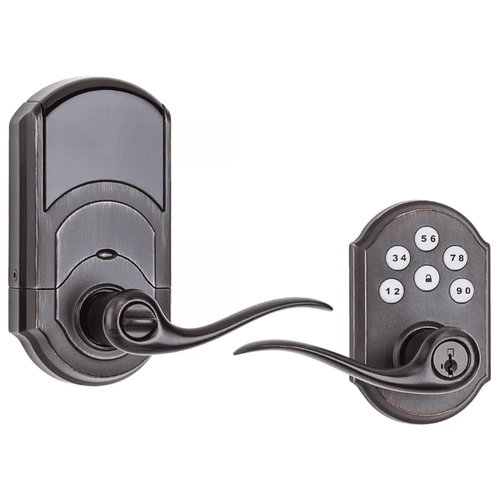 99120-039 - Kwikset SmartCode 912 Door Lever (w/Z-Wave Plus 500-Chipset in Venetian Bronze Finish)