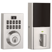 99140-019 - Kwikset SmartCode 914 Modern Contemporary Touchpad Door Deadbolt (w/Z-Wave Plus 500-Chipset in Satin Nickel Finish)