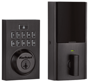 99140-020 - Kwikset SmartCode 914 Modern Contemporary Touchpad Door Deadbolt (w/Z-Wave Plus 500-Chipset in Venetian Bronze Finish)