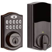 99140-024 - Kwikset SmartCode 914 Door Deadbolt (w/Z-Wave Plus 500-Chipset in Venetian Bronze Finish)