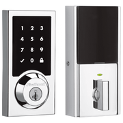 99160-018 - Kwikset SmartCode 916 Modern Contemporary Touchscreen Door Deadbolt (w/Z-Wave Plus 500-Chipset in Polished Chrome Finish)