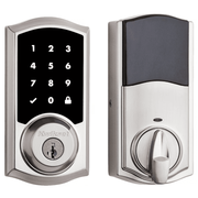 99160-020 - Kwikset SmartCode 916 Touchscreen Door Deadbolt (w/Z-Wave Plus 500-Chipset in Satin Nickel Finish)