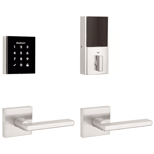 99540-001 - Kwikset Obsidian Touchscreen Door Deadbolt (w/Z-Wave Plus 500-Chipset in Satin Nickel Finish)