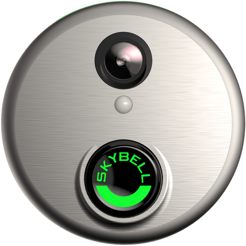 ADC-VDB101 - Alarm.com SkyBell WiFi Video Doorbell Camera (in Satin Nickel)