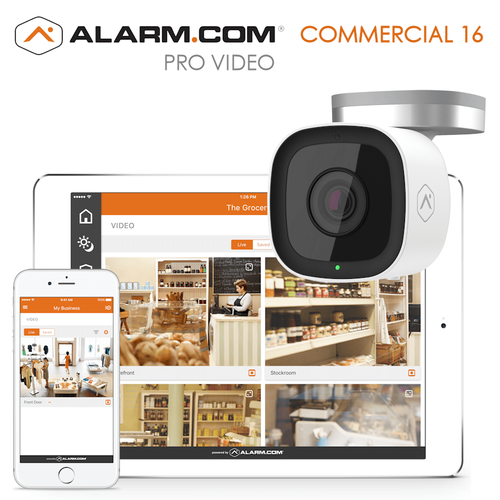 Alarm.com Commercial Business Video 16 Cameras Surveillance Services (Powered by Alarm.com)