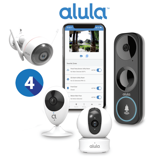 Alula Residential Home Video Surveillance Services (Up to 4 Cameras)