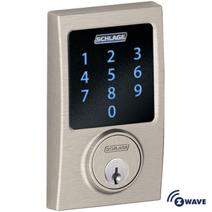 BE468CEN619 - Schlage Z-Wave Century Deadbolt (Satin Nickel)