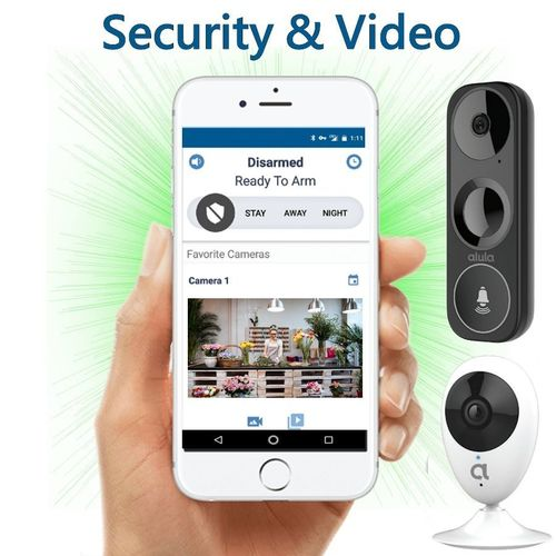 Alula DiY Tri-Path WiFi/IP/LTE Interactive Business Alarm Monitoring and Video Surveillance Service