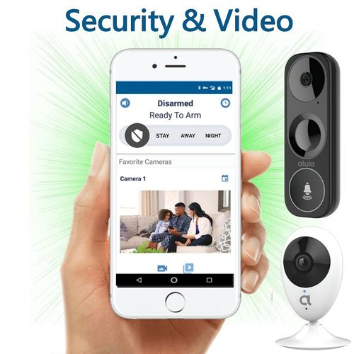 IpDatatel DiY WiFi Interactive Home Alarm Monitoring and Video Surveillance Service (Powered by Alula)
