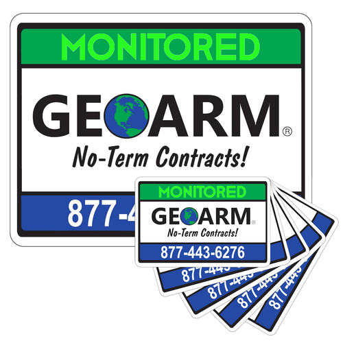 GeoArm® Home Security Yard Sign and 5-Stickers Combo