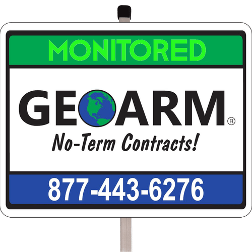 GeoArm� Home Security Yard Sign w/Post