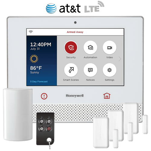 Honeywell Lyric Controller Cellular Wireless Security System Kit (for AT&T LTE Network)