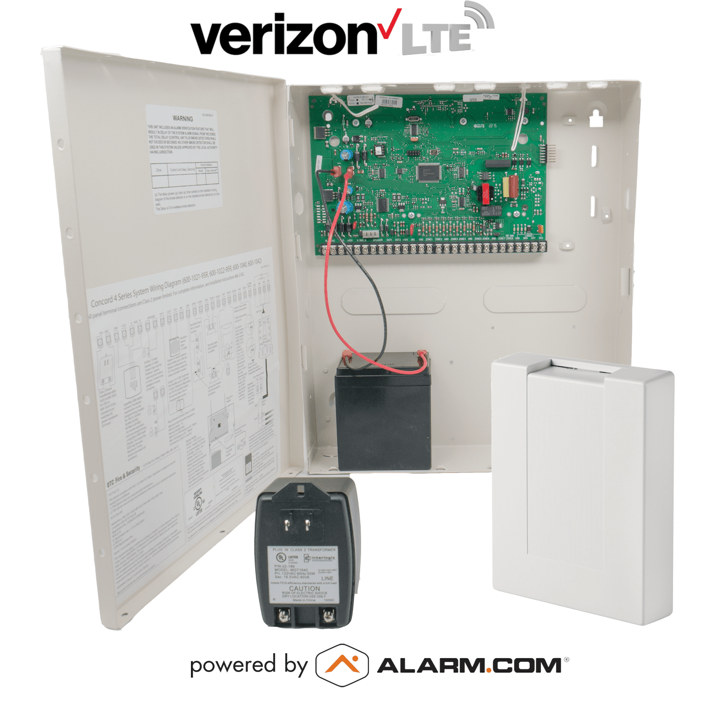 Alarm Transformer Wiring Diagram Schematics Karr Interlogix Concord 4 Cellular Hybrid Security System For Verizon Lte Cobra Car