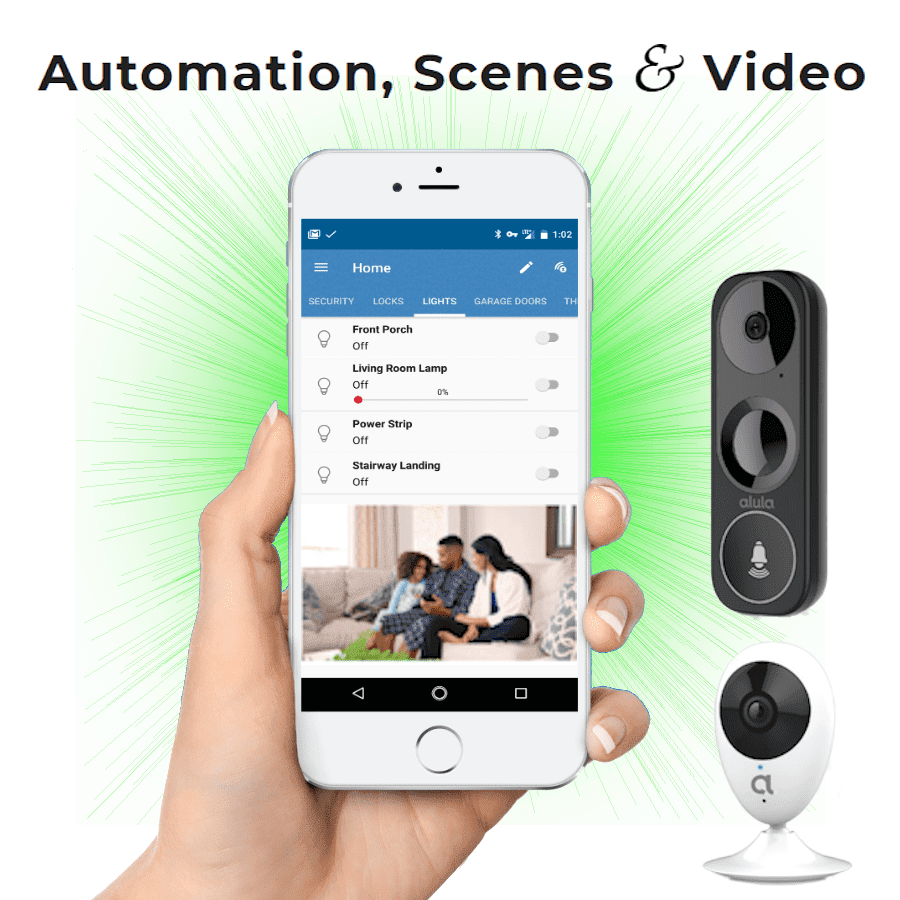 Alula Interlogix WiFi DIY Home Alarm Monitoring and Video