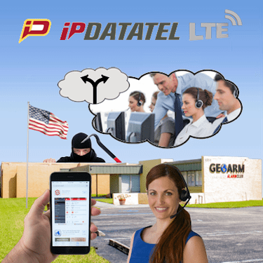 IpDatatel Dual-Path Interactive Alarm Monitoring Service (w/Wifi and LTE)