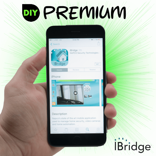 Napco DiY iBridge Premium Cellular AT&T Business Alarm Monitoring w/Daily Test Timer Service