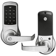 NTB610-ZW2-626 - Yale nexTouch™ Cylindrical Pushbutton Keypad and Lever Lock (w/Z-Wave in Satin Chrome Finish)