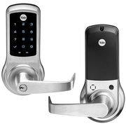 NTB620-ZW2-626 - Yale nexTouch™ Cylindrical Touchscreen Keypad and Lever Lock (w/Z-Wave in Satin Chrome Finish)