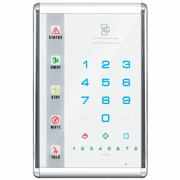 NX-1811E - GE Interlogix NetworX Advanced Touch Vertical LED White Alarm Keypad (w/Voice-Guided Intercom)