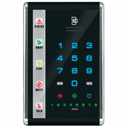 NX-1812E - GE Interlogix NetworX Advanced Touch Vertical LED Black Alarm Keypad (w/Voice-Guided Intercom)
