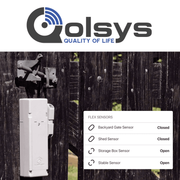 Qolsys Standalone Remote Property Sensor Cellular LTE Monitoring Services