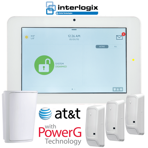 Qolsys IQ Panel 2 Plus Dual-Path WiFi/Cellular AT&T LTE Wireless Security System for PowerG, S-Line and Interlogix 319.5 MHz Sensors (Powered by Alarm.com)