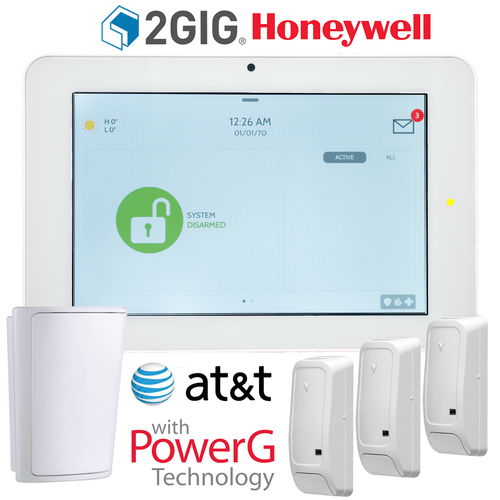 QS9202-5208-840-KIT - Qolsys IQ Panel 2+ Wireless Security System for 2GIG/Honeywell AT&T LTE (3-1 Kit)