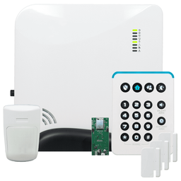 Alula Connect+ WiFi Wireless Security System Kit (Powered by Alula)