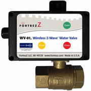 "WV01LFUS125 - FortrezZ Z-Wave Automated Water Shut Off Valve (1.25"" Brass)"