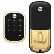 YRD156-ZW2-605 - Yale Pro™ SL Touchscreen Key-Free Deadbolt Lock (w/Z-Wave Plus in Bright Brass Finish)
