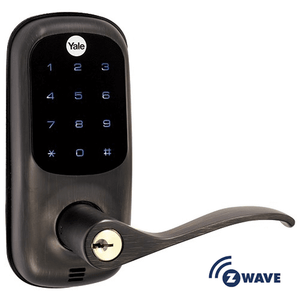 YRL220ZW0BP - Yale Z-Wave Touchscreen Lever Lock (Bronze Color)