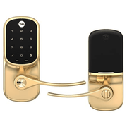 YRL226-ZW2-605 - Yale Assure Lever Touchscreen Keypad Lock (w/Z-Wave Plus in Bright Brass Finish)