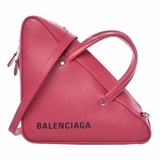 Balenciaga Calfskin Small Triangle Duffle Bag - Pink