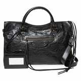 Balenciaga Classic City Medium Leather Satchel - Black
