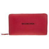 Balenciaga Continental Every Day Wallet - Red