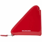 Balenciaga Triangle Patent Leather Coin Purse - Red