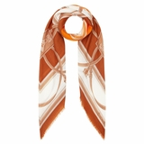 Burberry Archive Print Cashmere Large Square Scarf - Orange