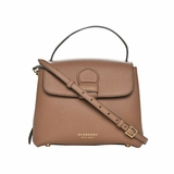 Burberry Derby Calfskin Check Camberley Bag - Brown